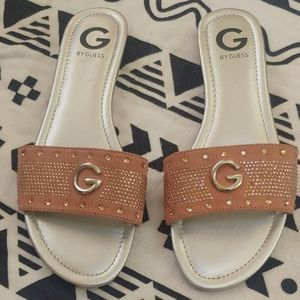 G by Guess Pink Slide Sandals